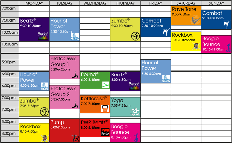 Timetable Sept-Oct